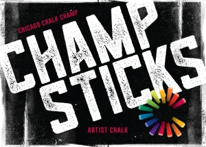 Champ Sticks tm is Premium Street Art Chalk from the Chicago Chalk Champ