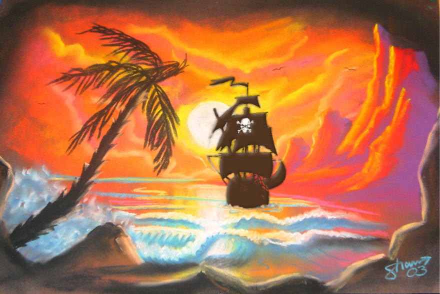 ShaunHays chalk art + pirateship
