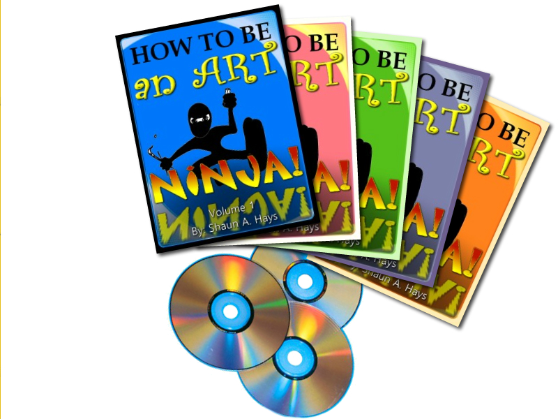"Shaun Hays, Chalk Champ, Artist, Author of ""How To Be An Art Ninja"" releases Series of Books and Instruction Videos."
