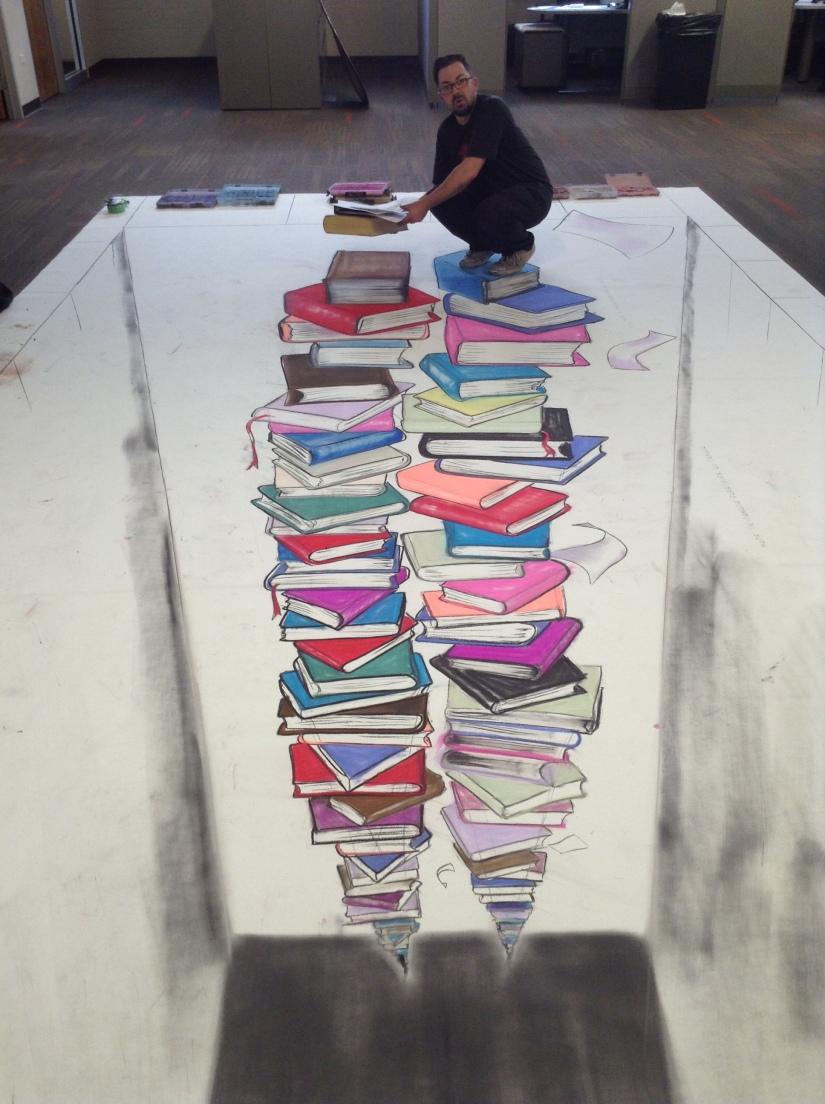 Shaun Hays, Chicago Chalk Champ - Chalk Art Illusions - 3D Chalk Art - Master Chalk Artist