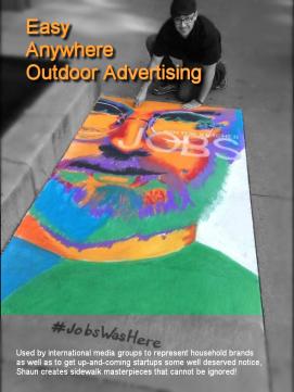 Shaun Hays, Chicago Chalk Champ - Chalk Art Illusions - 3D Chalk Art - Master Chalk Artist- Sidewalk Advertising