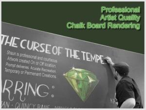 Shaun Hays, Chicago Chalk Champ - Chalk Art Illusions - 3D Chalk Art - Master Chalk Artist- Chalk Board Artist