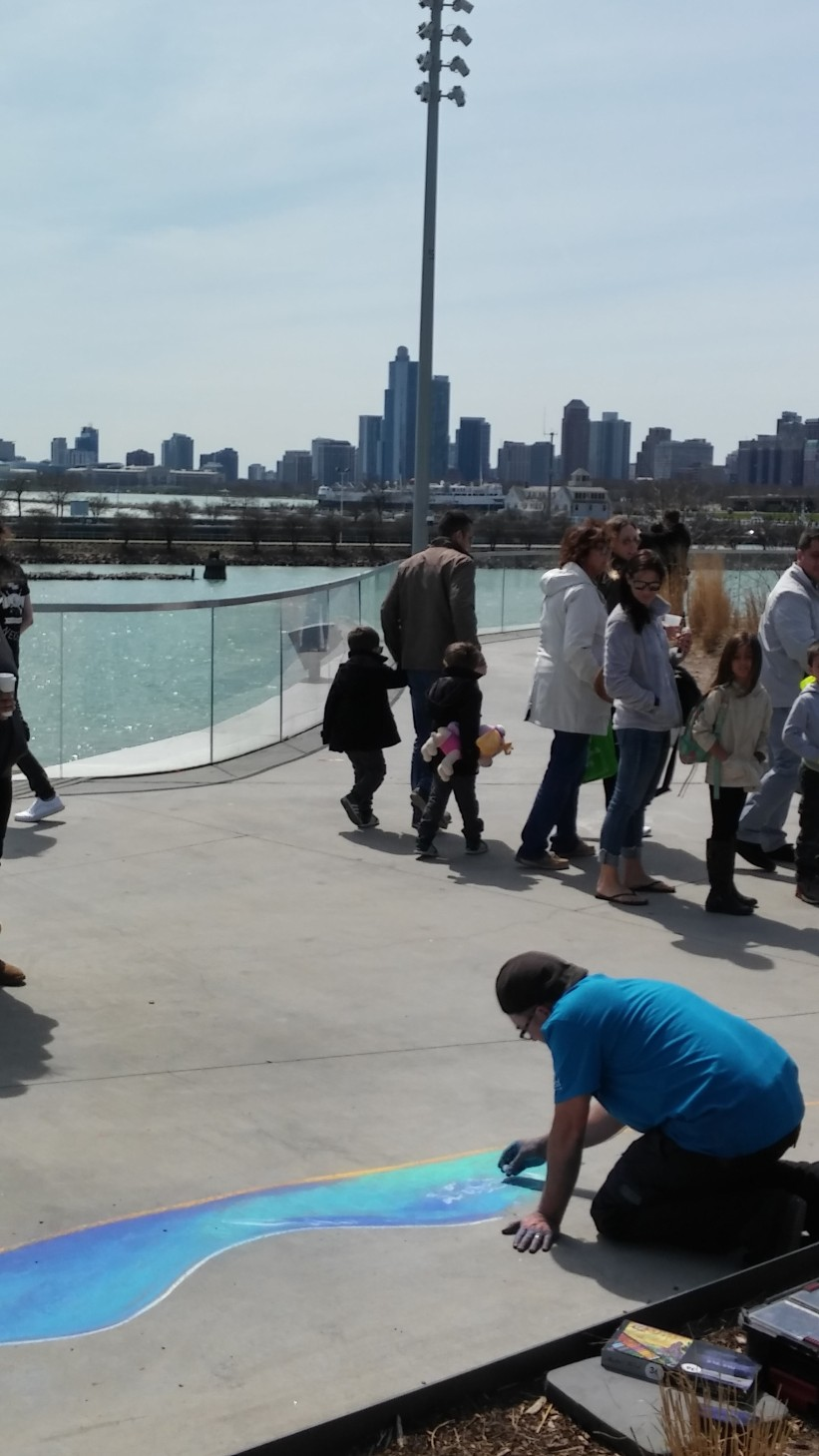 Chicago Chalk Champ - Shaun Hays on the Lakefront